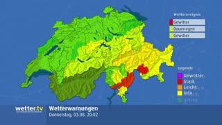 Wetter-Warnungen für die Schweiz
